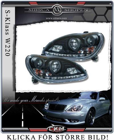 Clear glas facelift frontlights DEVIL EYES Black 2pcs