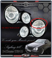 "Clear frontlights projector clear ""W211 LOOK"". 2pcs"