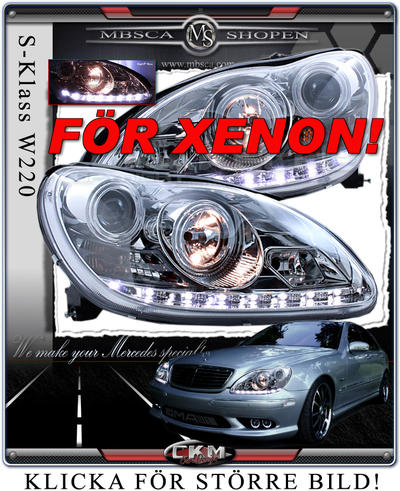 Clear glas facelift XENON frontlights DEVIL EYES 2pcs