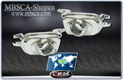 Clear fog lights projector in chrome 2 pcs