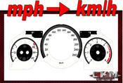 Cluster dials mph to km/h 260km/h White FACELIFT